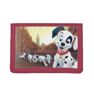 101 Dalmatian Patches Wagging his Tail Trifold Wallets