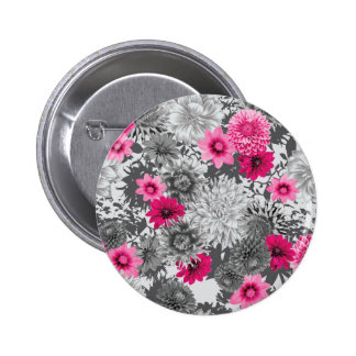 101 pink and grey photographic aop 2 inch round button