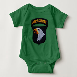 101st ABN Airborne Division Screaming Eagles Vets Baby Bodysuit