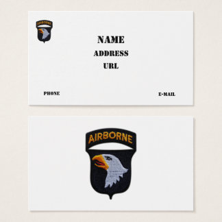 101st ABN Airborne Division Screaming Eagles Vets Business Card