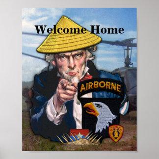 101st ABN DIV Airborne Vietnam Vets Fort Campbell Poster