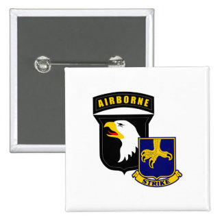 101st Airborne 502nd Infantry 2 Inch Square Button