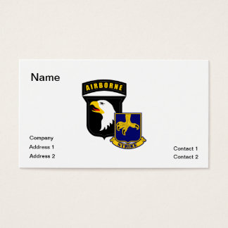 101st Airborne 502nd Infantry Business Card