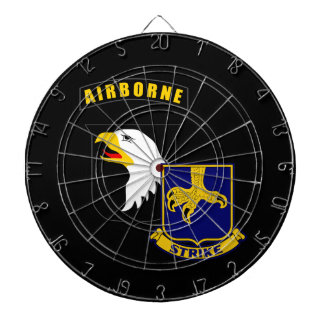 101st Airborne 502nd Infantry Dartboard With Darts