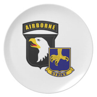 101st Airborne 502nd Infantry Dinner Plate