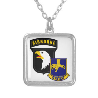 101st Airborne 502nd Infantry Silver Plated Necklace