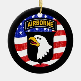 101st AIRBORNE Ceramic Ornament