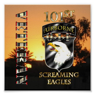 101st Airborne Division OIF Veteran Poster