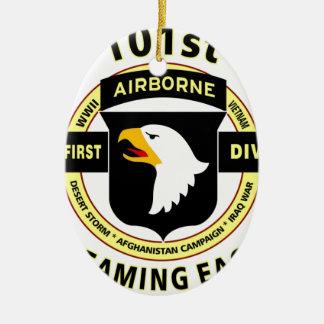 """101ST AIRBORNE DIVISION """"SCREAMING EAGLES"""" CERAMIC ORNAMENT"""
