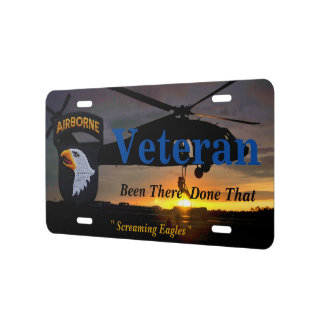 101st airborne fort campbell veterans vets license plate