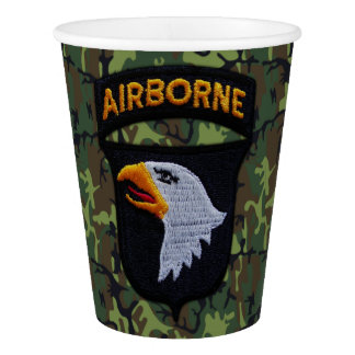 101st Airborne Screaming Eagles Veterans Vets LRRP Paper Cup