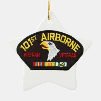 101st Airborne Vietnam Veteran Ceramic Star Ornament