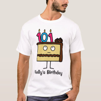 101st Birthday Cake with Candles T-Shirt