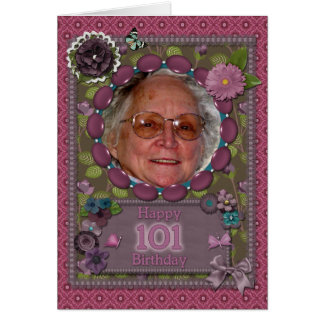 101st birthday Photo card