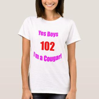 102 Cougar Birthday T-Shirt