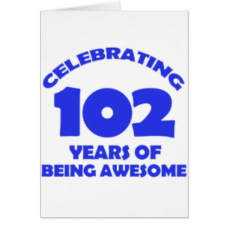 102 years old birthday designs card