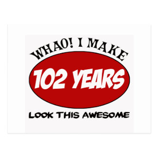 102 YEARS OLD BIRTHDAY DESIGNS POSTCARD