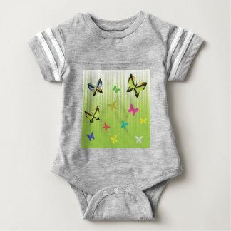 102Green  Background _rasterized Baby Bodysuit