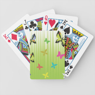 102Green  Background _rasterized Bicycle Playing Cards
