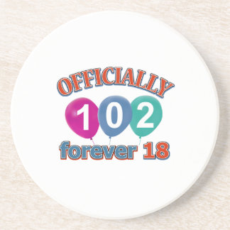 102nd birthday designs coaster