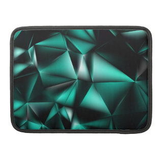 10406-black-turquoise-polygon-background sleeve for MacBook pro
