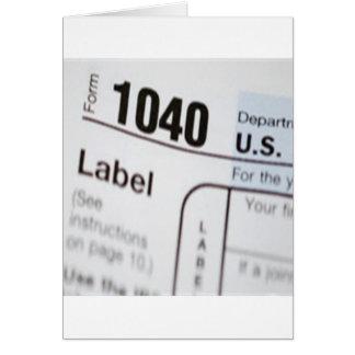 1040Tax Card