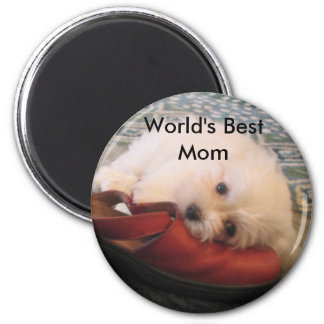 104_0471, World's Best Mom 2 Inch Round Magnet