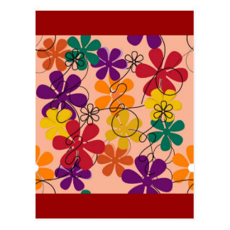 104 COLORFUL VECTOR FLOWERS COLLAGE GRAPHICS TEMPL POSTCARD