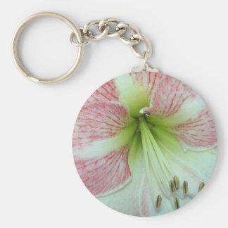 104a Amaryllis Apple Blossom open 2 Keychain