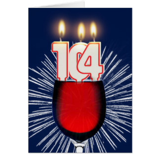 104th Birthday with wine and candles Card