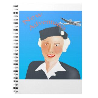 1050's Air Travel Stewrdess Notebook