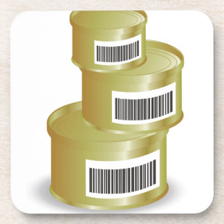 105Canned Food _rasterized Coaster