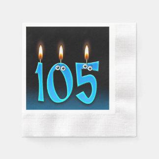 105th birthday candle with eyeballs napkin