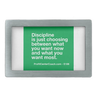 106- Small Business Owner Gift - Discipline Choice Belt Buckle