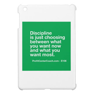 106- Small Business Owner Gift - Discipline Choice iPad Mini Cases