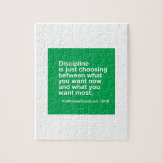 106- Small Business Owner Gift - Discipline Choice Jigsaw Puzzle