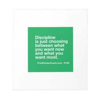 106- Small Business Owner Gift - Discipline Choice Notepad