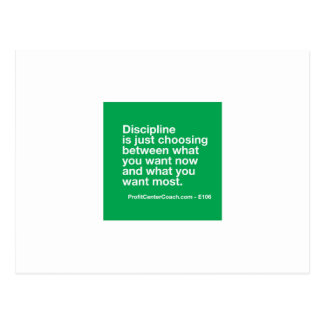106- Small Business Owner Gift - Discipline Choice Postcard