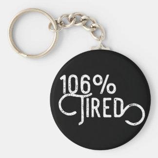 106% Tired Keychain