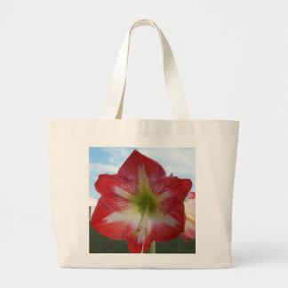 106a Amaryllis red and white MegaStar2 Large Tote Bag