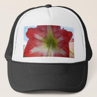 106a Amaryllis red and white MegaStar2 Trucker Hat