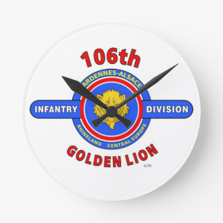 "106TH INFANTRY DIVISION ""GOLDEN LION"" ROUND CLOCK"