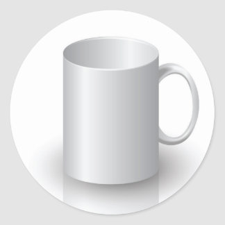 106White Mug _rasterized Classic Round Sticker
