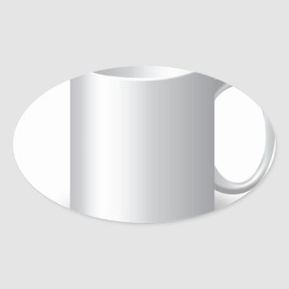 106White Mug _rasterized Oval Sticker