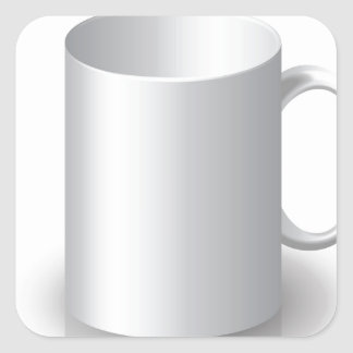 106White Mug _rasterized Square Sticker