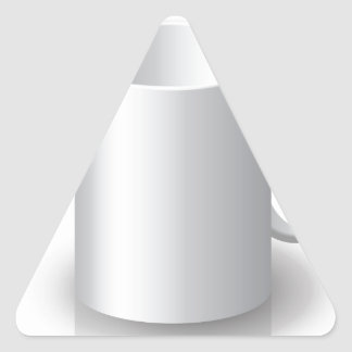 106White Mug _rasterized Triangle Sticker