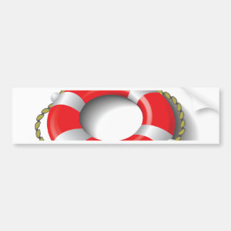 107Lifebuoy _rasterized Bumper Sticker