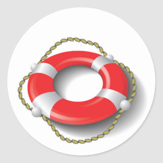 107Lifebuoy _rasterized Classic Round Sticker