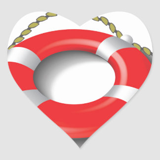 107Lifebuoy _rasterized Heart Sticker