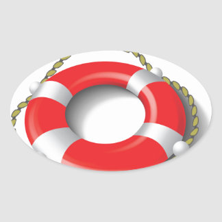 107Lifebuoy _rasterized Oval Sticker